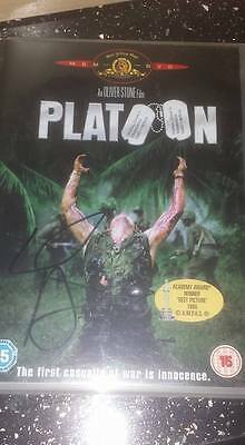 Platoon Hand Signed Dvd Willem Dafoe With Coa War Movie