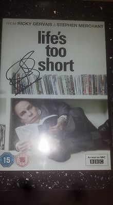 Lifes Too Short Hand Signed Dvd Warwick Davis With Coa Actor Filmstar Movie