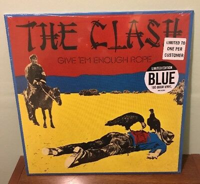 The Clash - Give 'em Enough Rope Blue Vinyl LP  New & Sealed HMV Excl