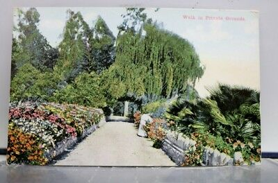 California CA Road of Thousand Wonders Private Grounds Walk Postcard Old Vintage