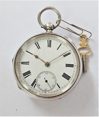 1896 Silver Cased English Lever Pocket Watch In Working Order