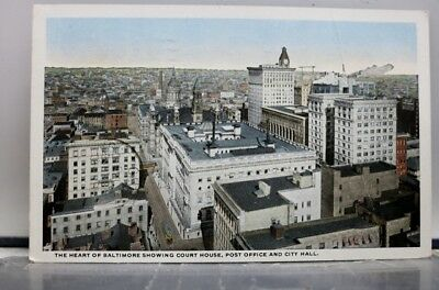 Maryland MD Baltimore Court House Post Office City Hall Postcard Old Vintage PC