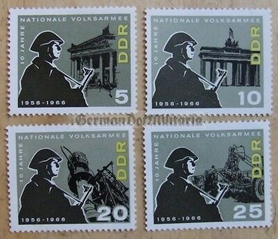 pc1) East German NVA Army anniversary stamp set from 1966 DDR GDR Berlin