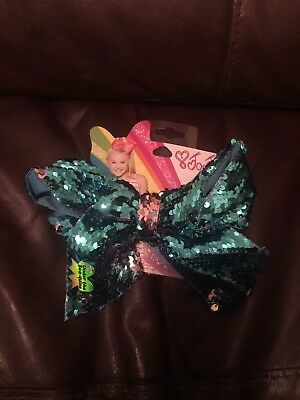 JoJo Siwa large turquoise & pink sequin hair bow. New with tags.