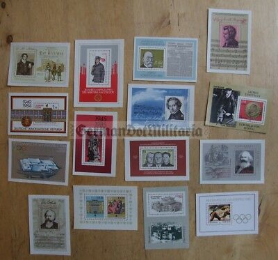 pc2-2) East German collection of postage stamps blocks DDR GDR Berlin Cold War