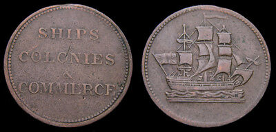 Prince Edward Island Halfpenny Token Double H Mint mark Ampersand PE-10-42 VF-25