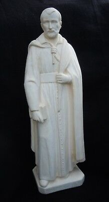 Lovely Antique Chalk Ware Religious Statue Of The Martyr 'edmund Campion'.