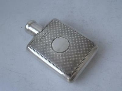 Quality Antique Solid Sterling Silver Ladies Handbag Flask 1909/ L 8 cm