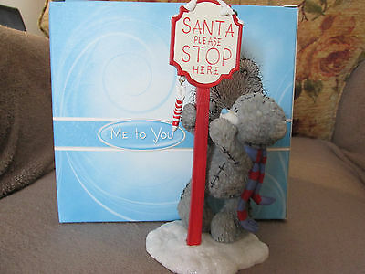 Me To You 'santa Stop Here' Figurine Brand New And Boxed