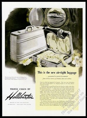 1946 Zero Halliburton luggage suitcase illustrated vintage print ad