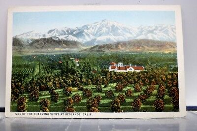 California CA Redlands Charming Views Postcard Old Vintage Card View Standard PC