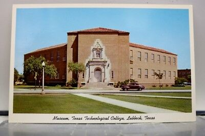 Texas TX Lubbock Technological College Museum Postcard Old Vintage Card View PC