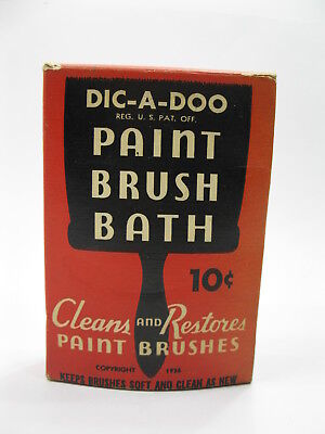 1936 DIC-A-DOO Paint Brush Bath Cleaner Patent Cereals Co Geneva NY Advertising