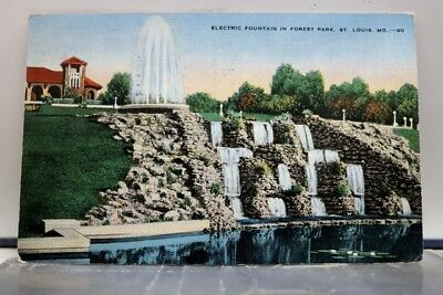 Missouri MO St Louis Forest Park Electric Fountain Postcard Old Vintage Card PC