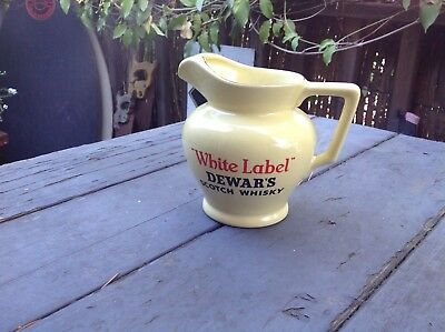 Vintage pub water jug dewars scotch whisky