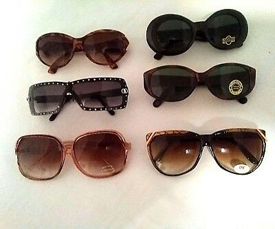 Vintage Lot of assorted Ladies Sunglasses Remarkable old school styles NWT