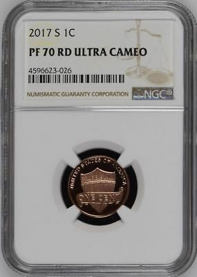 2017-S LINCOLN SHIELD PROOF CENT 1c NGC PF 70 RD ULTRA CAMEO