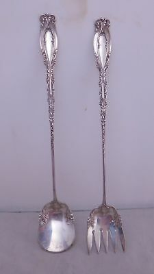 Victorian Whiting Sterling Silver Josephine Pattern Sardine Serving Fork & Spoon