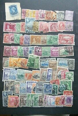 British colonies lot of used faulty stamps