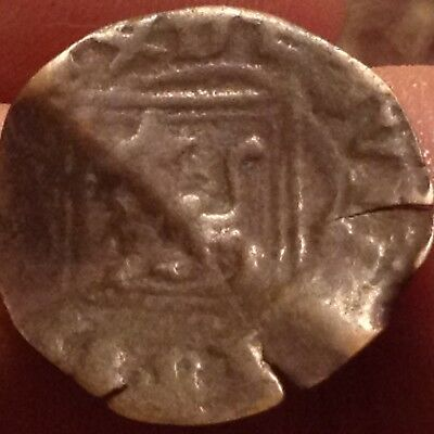 Spain-medieval coin with Lion and Castle Metal detector find D24