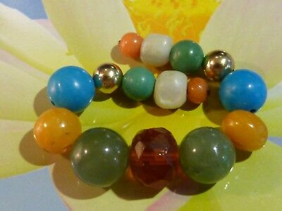 Antique Chinese Green Jade,mother Of Pearl,turquoise, Coral,amber,gold Beads