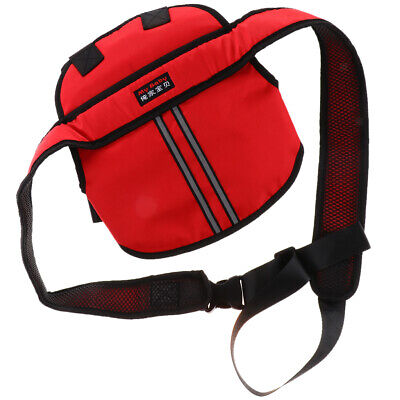 Motorcycle Kids Safety Seat Belt Harness Chest Positioner Buckle Clip Red