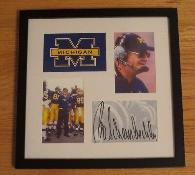 Bo Schembechler Autograph Autographed Framed MICHIGAN Football Signed