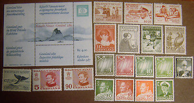 Greenland 20 Different Mint Never Hinged F-VF