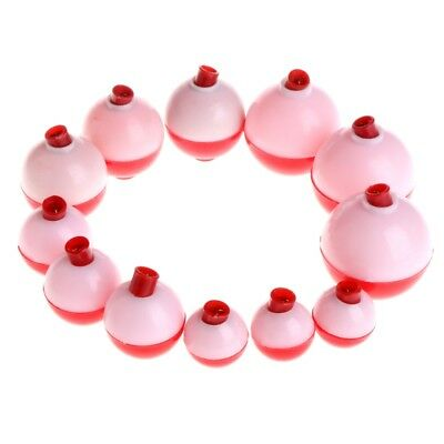 12Pcs Fishing Floats Snap-on Bobber Round Push Button Tackle Set Accessories Hot