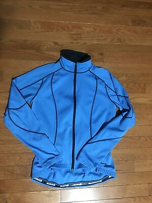 Women's Sugoi Long Sleeve Cold Weather Cycling Jersey Medium Blue