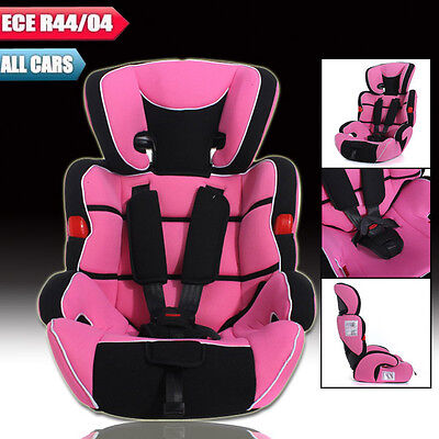 Pink Convertible Baby Children Car Seat & Booster Seat 9-36kg 9months -12years