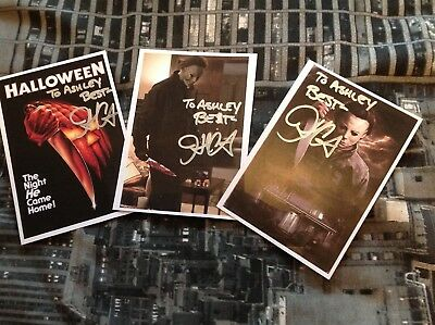 HALLOWEEN HAND SIGNED JOHN CARPENTER 6 x  4 CARD MICHAEL MYERS RARE CHEAP LOOK