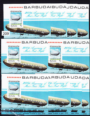 10 X Barbuda - Mnh - S/s - Imperf - Ships