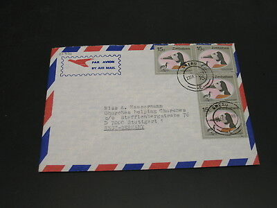 Zimbabwe 1988 airmail cover to Germany *22764