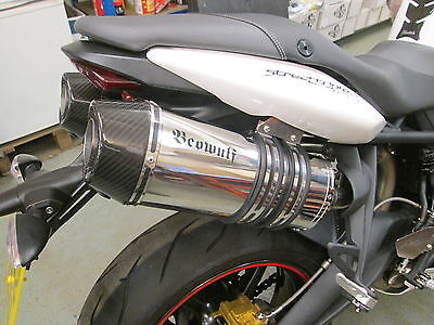 Triumph 675 675R Street Triple (08-12) Beowulf Silencers Exhausts Mufflers