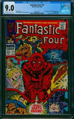 Fantastic Four # 77  ...Shall Earth Endure ?   CGC 9.0 scarce book !