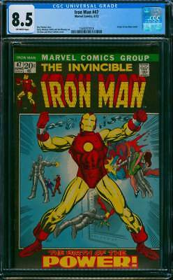 Iron Man # 47  The Birth of the Power ; Barry Smith !   CGC 8.5 scarce book !