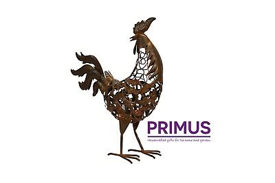 Primus Handmade Metal Rusty Rooster Ornament / Sculpture