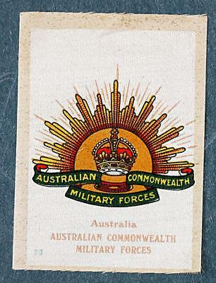 WW1 silk colonial military badge Australian Commonwealth Military Forces  #73