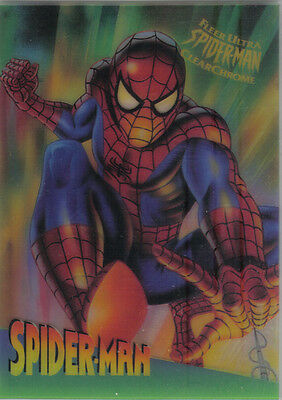 Spiderman Ultra 95 Clear Chrome Card Cc9