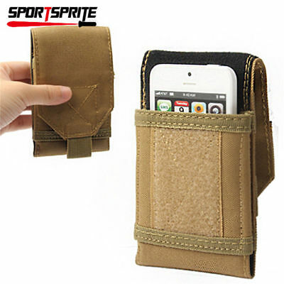 """Tactical Molle Cellphone Pouch for IPhone6 / 6S / 6Plus 5.5"""" Loop Belt Pouch Tan"""