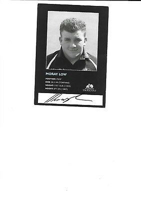 Glasgow Warriors - Moray Low (Hand Signed)