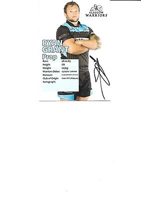 Glasgow Warriors - Ryan Grant (Hand Signed)