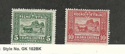 Eritrea (Italy), Postage Stamp, #49-50 Mint LH, 1914-28