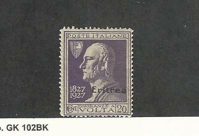 Eritrea (Italy), Postage Stamp, #102 Mint Hinged, 1927