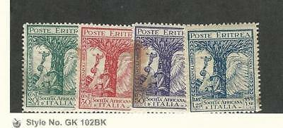 Eritrea (Italy), Postage Stamp, #B21-B24 Stains Mint NH, 1928