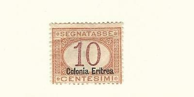 Eritrea (Italy), Postage Stamp, #J2a Mint Hinged, 1920