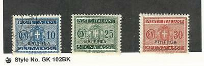 Eritrea (Italy), Postage Stamp, #J16 Used, J18-19 Mint Hinged, 1934