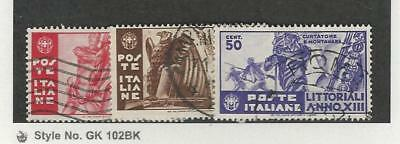 Italy, Postage Stamp, #342-344 Used, 1935