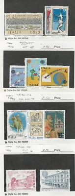 Italy, Postage Stamp, #1337-9, 1573-5, 2130-34 Mint NH, 1978-97